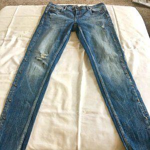 ZARA Basic z1975 distressed midrise skinny jeans 6